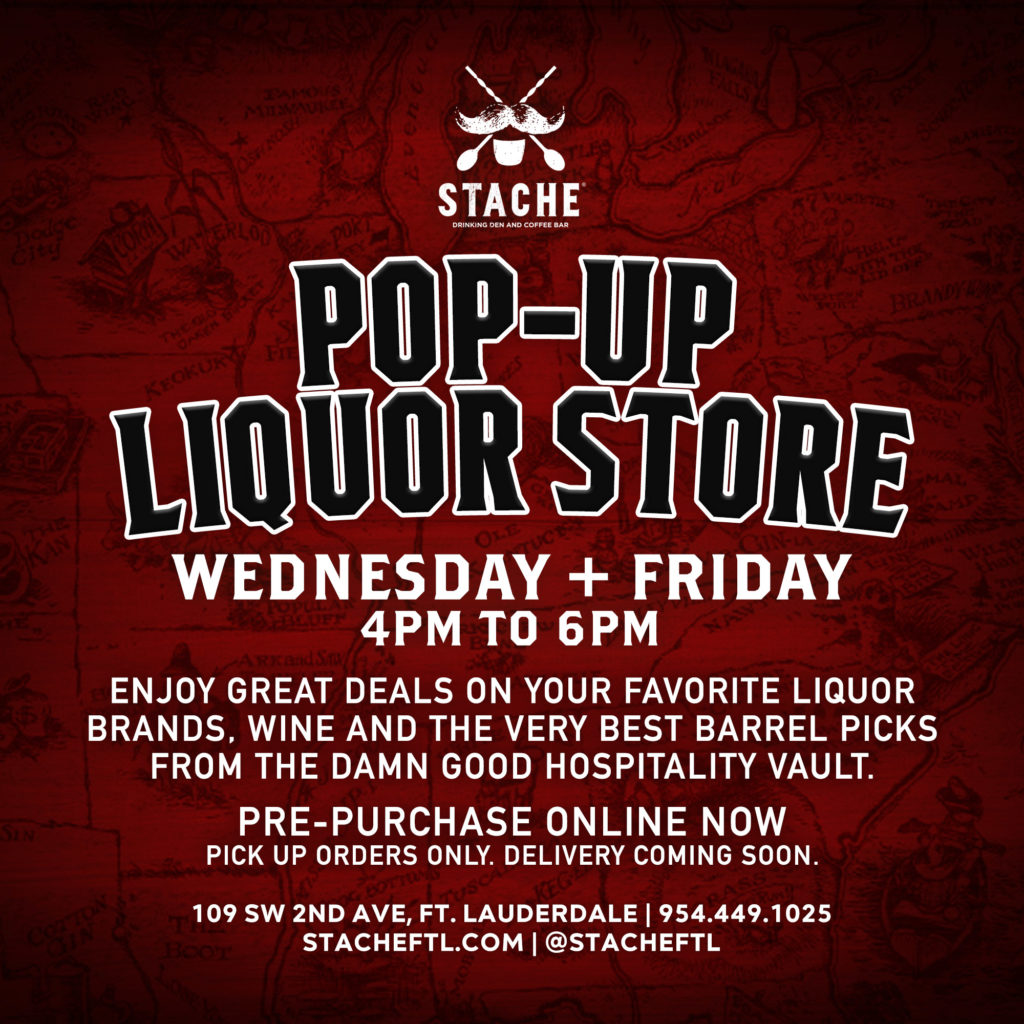 Popup Image for the POP-UP LIQUOR STORE. Open Wednesday + Friday 4PM – 6PM